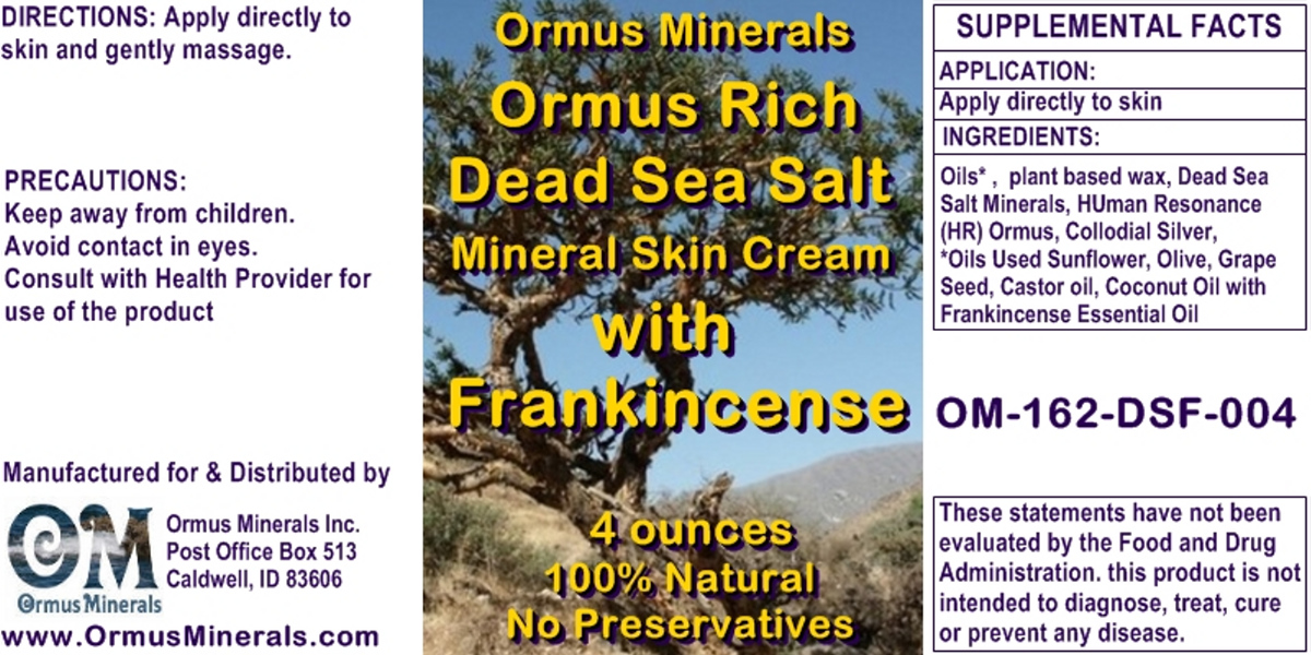Ormus Minerals Ormus Rich Dead Seal Salt Mineral Skin Cream with Frankincense