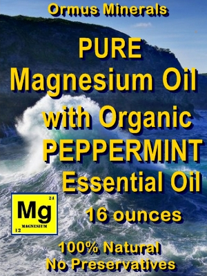 Ormus Minerals -Pure Magnesium Oil with Organic Peppermint EO