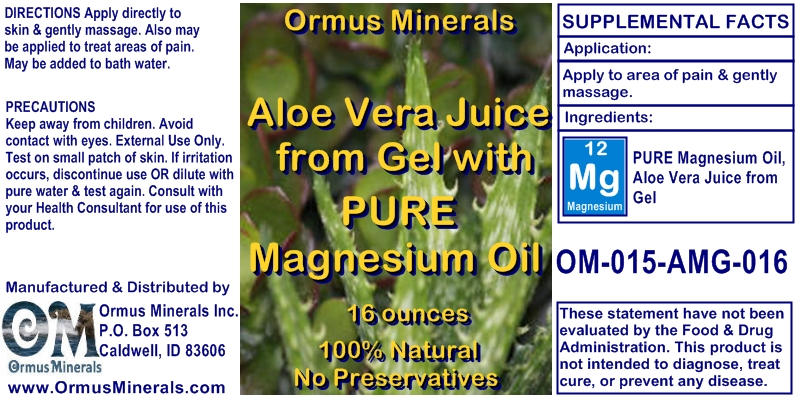 Magnesium Oil with Aloe Vera