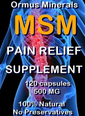 Ormus Minerals -MSM Pain Relief Supplement